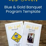 Templat Program Perjamuan Biru & Emas Cub Scout {Gratis}