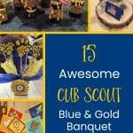 15 Gagasan untuk Centerpieces Biru & Emas Luar Biasa