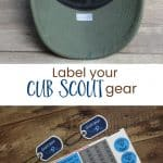 No More Lost Cub Scout Caps dengan Label Mabel