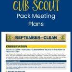 Paket Rapat Cub Scout Pack Gratis Menghemat Waktu Anda