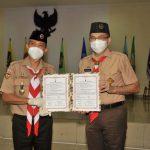 Satgas Pramuka Peduli Covid-19 Kwarnas Serahkan Bantuan kepada Kwarda DKI Jakarta