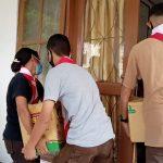 Gunung Ile Lewotolok Erupsi, Pramuka Lembata NTT Bantu Distribusi Barang Bantuan untuk Pengungsi