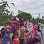 Satgas Pramuka Peduli Kwarcab Aceh Utara Evakuasi Korban Banjir