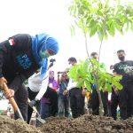 Pramuka Madiun Menanam Pohon Bersama Ketua Mabida Jawa Timur