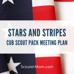 Paket Pertemuan Stars and Stripes Cub Scout Pack (Hormat)