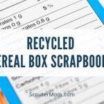 Scrapbooks Kotak Sereal Daur Ulang