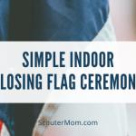 Upacara Bendera Penutupan Dalam Ruangan Sederhana