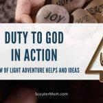 Panah Tugas Ringan kepada Tuhan dalam Petualangan Aksi: Bantuan dan Ide Cub Scout