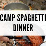 Camp Spaghetti Dinner