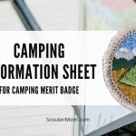 Lembar Informasi Camping untuk Camping Merit Badge
