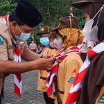Pelantikan 73 Pramuka Siaga Garuda Kwarran Pogalan, Kabupaten Trenggalek