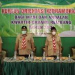 Kwarcab Rembang, Laksanakan Kursus Orientasi Bagi Mabi dan Andalan