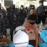 Ribuan Pramuka Saka Bahari Jalani Vaksinasi Puspenerbal di Bandara Juanda